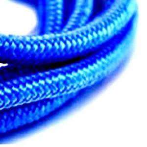 Bracelet ancre bleu, détails corde
