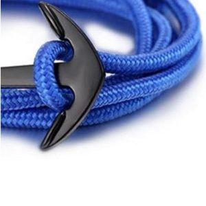 Bracelet ancre bleu, fermoir