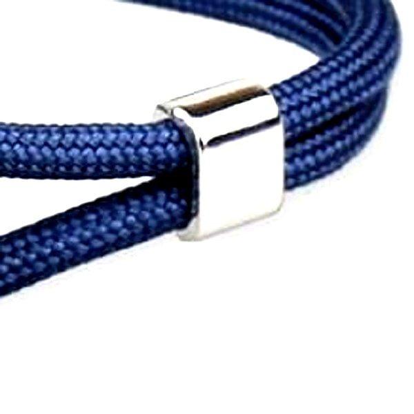 Bracelet ancre bleu marine, corde