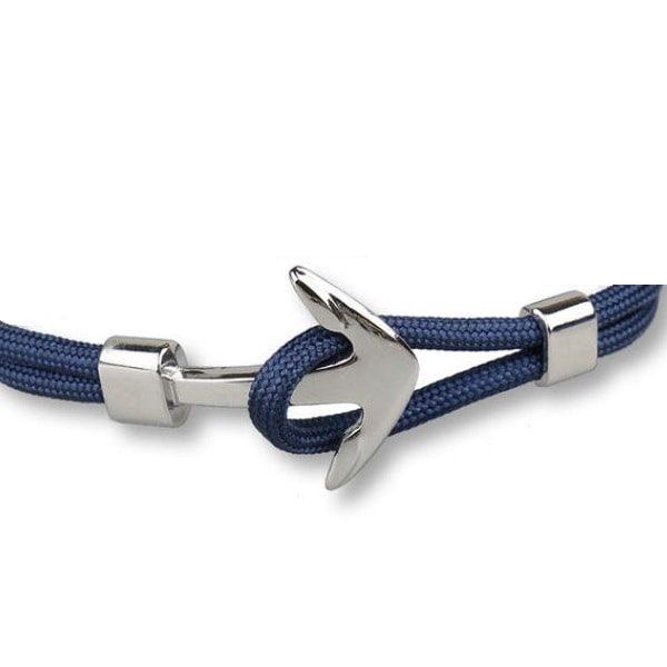 Bracelet ancre bleu marine, fermoir