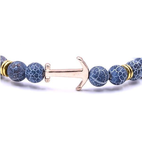 Bracelet femme avec ancre marine
