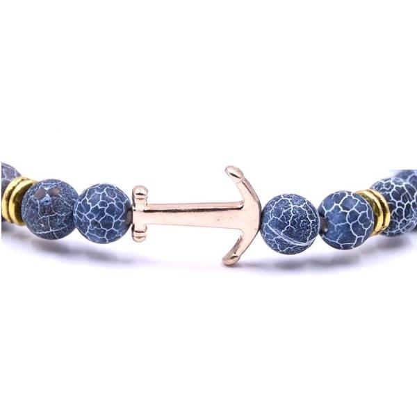 magnifique bracelet avec ancre marine et pierres pour femme. Black Bedroom Furniture Sets. Home Design Ideas