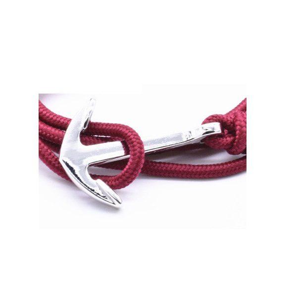 Bracelet rose femme ancre argenté