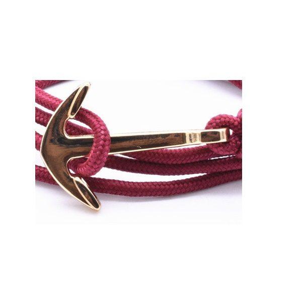Bracelet rose femme ancre doré