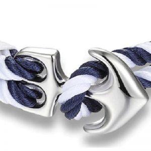 Bracelet ancre bleu et blanc - ancre