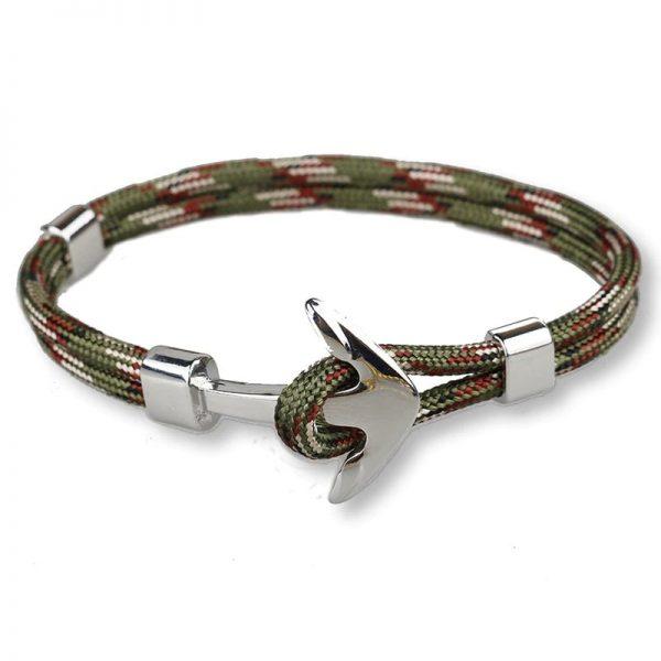 Bracelet ancre homme kaki - militaire